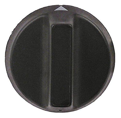 Luxia Knevel voor vaatwasser K1300, POLY2000, POLY1500 ø 43mm symbool met nulstreep voor as 5x5mm zwart