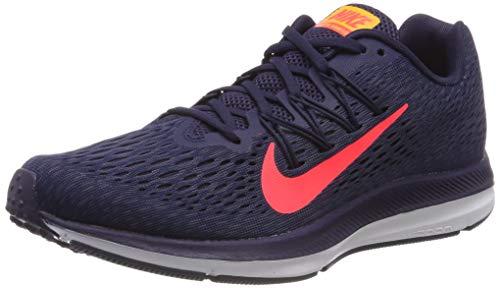 Nike Men's Zoom Winflo Running Shoe (9.5 M US, Blackened Blue/Flash Crimson)