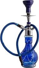 JaipurCrafts 18 inch Glass, Iron Hookah (Blue, Steel)