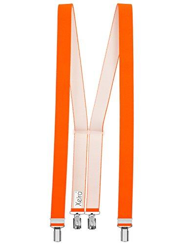 Xeira - Hosenträger in Trendigen Neon Orange mit 4 Clips