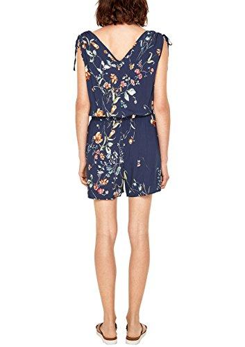 s.Oliver Damen Jumpsuit mit Blumen-Muster, Blau - 3
