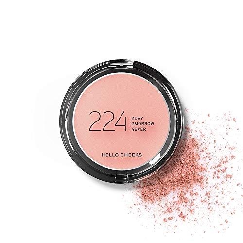 224 Cosmetics Colorete Hello Cheeks : natural, vegano & no testada en animals - feel good fórmula & sin parabeno y silicona - Melocotón