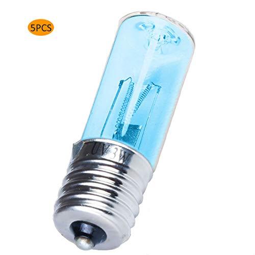 DOLA 5 PCS E17 Luz Germicida UV, Bombilla Esterilizadora UV Desinfección Esterilización Ácaros Luz para El Hogar, La Oficina, La Escuela, El Hospital