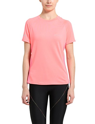 Ultrasport Jen Camiseta de Correr/de Deporte, Mujer, Rosa, L