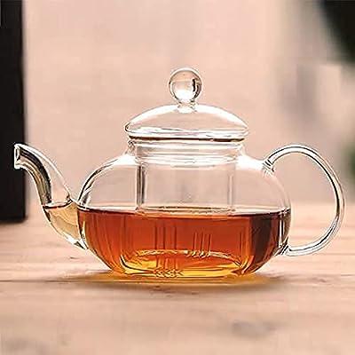 1200 ml / 40 OZ Glass Teapot with infuser, Tea Kettle with infuser safe Stove Top, Clear Teapot with Removable infuser , Teapot with infuser, tea infusers for loose tea