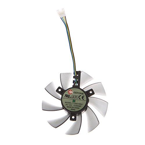 Yintiod GPU koeler grafische kaartkoeler, DIY T129215SU grafische kaart, 4-pins ventilator voor ASUS GTX 460 Gigabyte GTX 1060