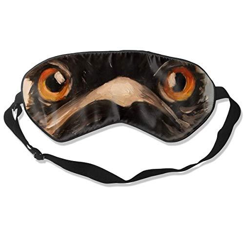 Schlafmaske Emu Ölgemälde Seidenmaske mit verstellbarem Kopfband