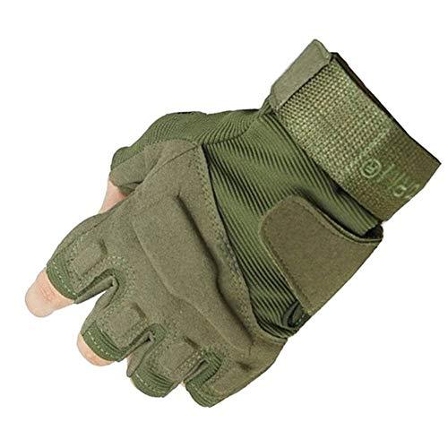 YANODA Militärische Special Forces Taktische Armee Handschuhe Slip Outdoor Männer Kämpfen Fingerlose Handschuhe (Color : Army Green, Gloves Size : M)