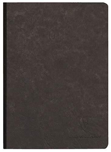 Clairefontaine 795431C Heft AgeBag (DIN A5, 96 Blatt, Dot, Leinendesign, 1 Stück) schwarz