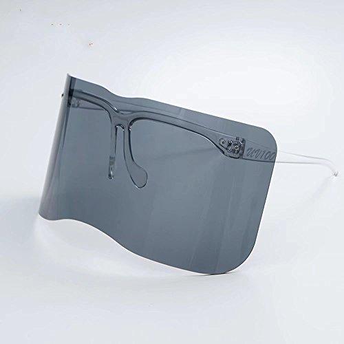 Fablcrew Lunettes de soleil pour hommes Lunettes de cyclisme Sports de plein air Lunettes de soleil lunettes de soleil Cadre noir brillant gris