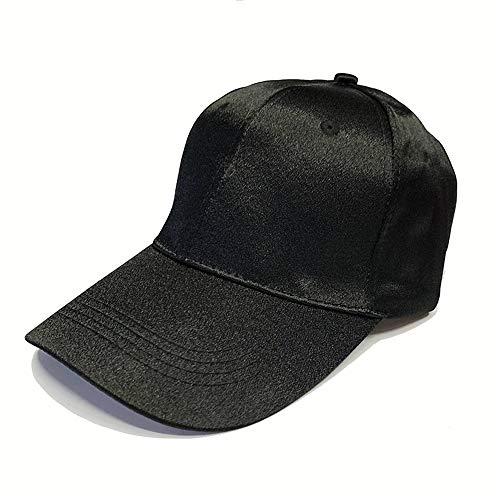 SHJIA Sombrero De Béisbol Casual De Color Liso Satinado De Seda Lisa, Gorra De Estudiante Salvaje para Hombres Y Mujeres Sombrero De Sol para Compras Al Aire Libre