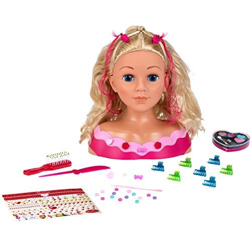 klein- Princess Coralie Tête à coiffer et à maquiller, 5392
