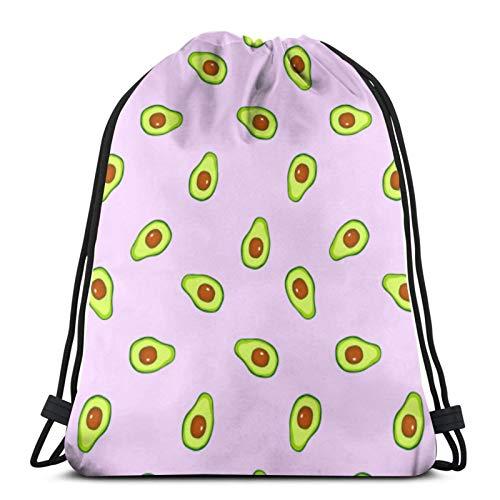 Tienda asequible Frutas Aguacate Cocina Comida Y Bebida Cordón Mochila Bolsas Deporte Cinch Bolsas Para Viajar Y Almacenamiento Para Hombres Y Mujeres 45 X 14 Pulgadas