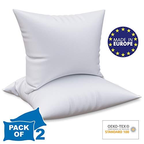 Dreamzie - 2er Set Kopfkissen 50 x 75 cm Anpassbar - Orthopädisches Kissen Sehr Weich 100% Mikrofraser Für Alle Schlafpositionen - Ohne Chemikalien (Oeko-TEX Standard 100)