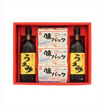 カネイ醤油 うまみ2本・味パック3箱セット[AU-420]