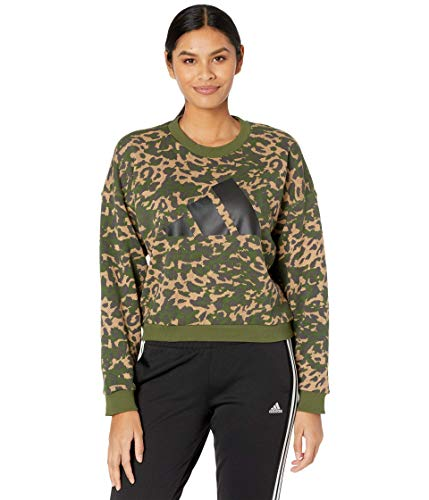 adidas womens All Over Print Crew Cardboard Large