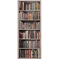 Plage Biblioteca Moderna Trampantojo de Puerta, Vinilo, Multicolor, 83x204 cm