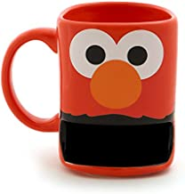 """Enesco 6001064 Our Our Name is Mud """"Elmo"""" Sesame Street Mug with Cookie Slot, 10 oz, Red"""