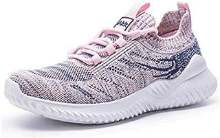 حذاء مشي رياضي للنساء من Akk - إسفنج مطاطي خفيف الوزن خفيف الوزن أحذية رياضية لممارسة رياضة الجري والركض