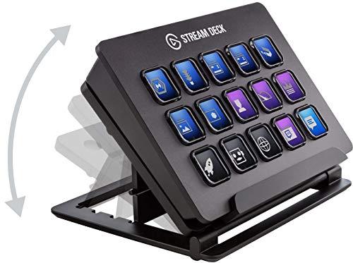Elgato Stream Deck - Controlador para contenido en directo, 15 teclas LCD personalizables, soporte ajustable, Windows 10… 11
