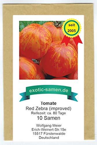 Tomate - Red Zebra improved - Red Lightning - 10 Samen