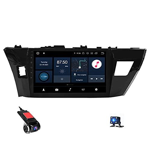 9' Android 10 Navigazione GPS Car Stereo Radio Lettore Video multimediale per Toyota Corolla E170 E180 2014-2016 Supporto Bluetooth Controllo del Volante USB WiFi Dash Cams(Color:WiFi 2g+32g)