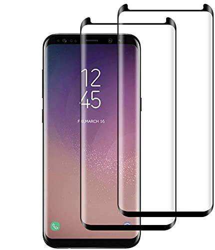POOPHUNS Cristal Templado Samsung Galaxy S8, 2-Unidades Protector de Pantalla Cristal Vidrio Templado Premium para Samsung Galaxy S8, 9H Vidrio Real No se despega uellas Dactilares Libre
