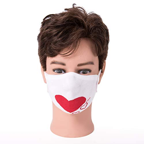 Behelfs Mund und Nasen Maske/Mundschutz/Atemschutzmaske mit Wendemotiv Herz/mit permanentem antimikrobiellem Additiv/waschbar 60 Grad / 100{5c8bd84c95ce497934d3677eb84b873edc178a34b1be7817f01d04a329b9c0e5} made in Germany
