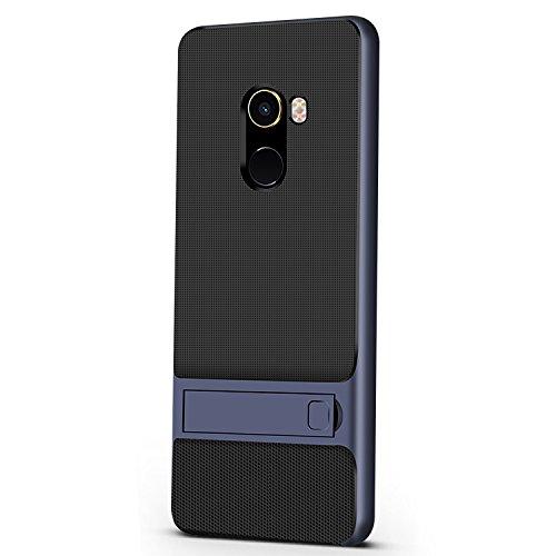 Funda® Fermezza Smartphone Custodie con Kickstand per Xiaomi Mi MIX 2(Blu)