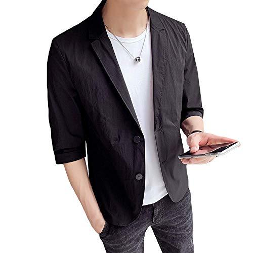 WEEN CHARM テーラードジャケット メンズ 7分袖 サマージャケット 細身 ジャケット 春夏 タイト ジャケット...
