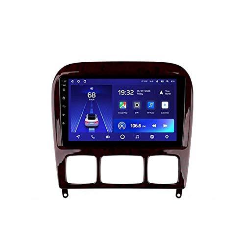 2 DIN Bluetooth Radio Coche Autoradio, con 9 Pulgadas HD Pantalla Táctil, Soporte Bluetooth Manos Libres/Mirror Link/FM/1080P Video, para Mercedes Benz S Class/W220/VV220,Quad Core,WiFi 1+32