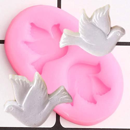 LNOFG 3D Tauben Silikonform Kuchenform DIY Kuchen Dekorationswerkzeug Candy Clay Schokoladenform