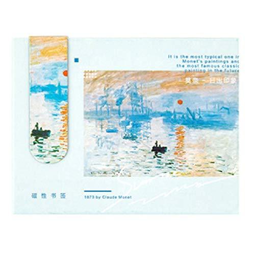 Zrshygs Segnalibri magnetici creativi Van Gogh Letteratura Arte DIY Decorazione Segnalibri Cancelleria Studente Ufficio Forniture
