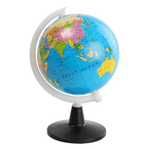 YHtech Mapa del Atlas World Globe con Soporte Giratorio para el hogar Decoración de la Oficina Artesanía Suministros Escolares Playa Bola Niños Aprendizaje Mapa Educativo Juguete