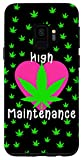 Galaxy S9 Girly Weed Phone Case High Maintenance Marijuana Pot Leaf Case