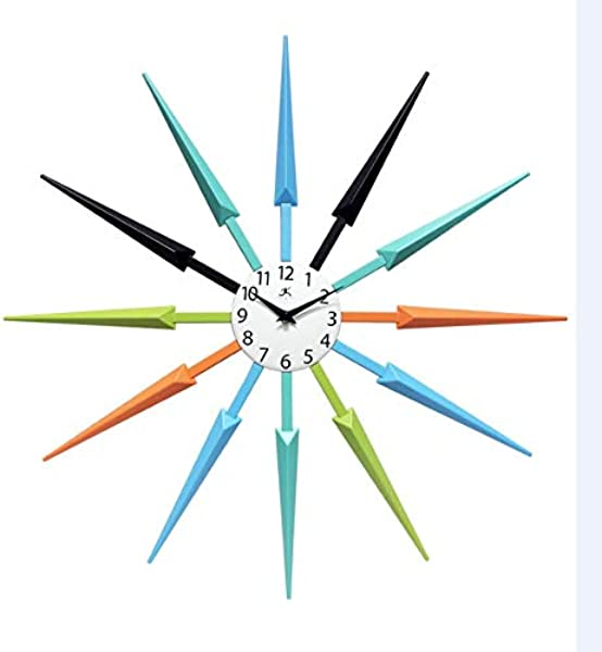 Infinity Instruments Midcentury Multicolored Wall Clock 24 5 X 24 5 X 1 75