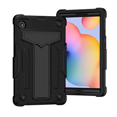 QYiD Funda para Lenovo Tab M10 HD 10.1 Pulgadas 2018, 3 en 1 Híbrida Carcasa a Prueba de Golpes Protector Case con Soporte para Lenovo Tab M10 (TB-X505L / TB-X505F / TB-X605L / TB-X605F), Negro/Negro