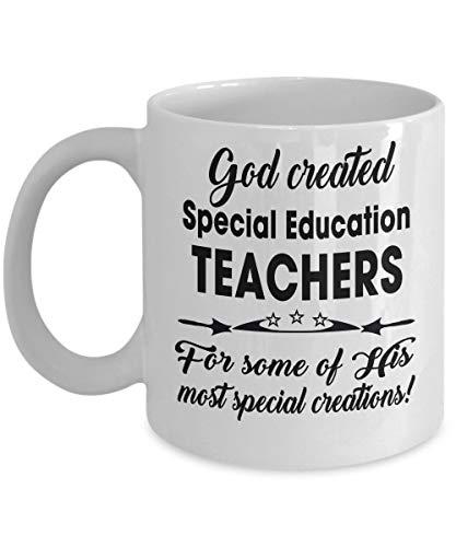 Maestra de educación especial - Regalos para jubilados de secundaria, secundaria, primaria - Taza de café de fin de año, divertida, taza, té, regalo para Navidad, día del padre, día de la madre, papá,