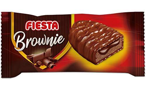 FIESTA Brownies Bizcocho recubierto de chocolate con leche y