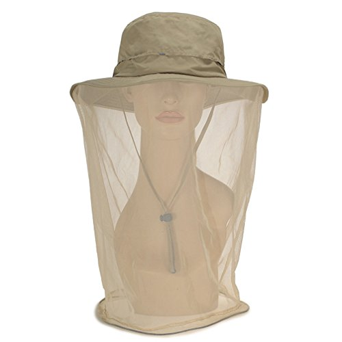 Luwint Mosquito Head Net Hat, Breathable Sun Hat Beekeeper Hat Cap with Veil