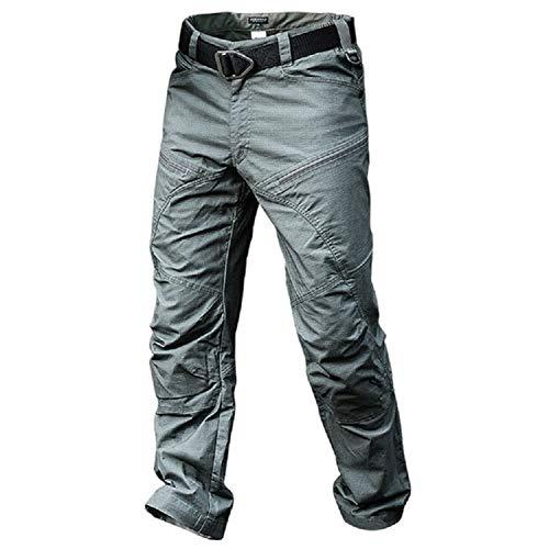 YEVHEV męskie spodnie bojówki z 6 kieszeniami, cztery pory roku, bawełna, wojskowe spodnie na polowanie, wędrówki, kemping, do pracy (bez paska)