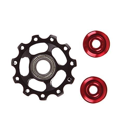 Reemplazable Rueda de bicicleta de la aleación de aluminio Jockey cambio trasero Guía Camino de bicicletas de montaña Rodillo polea loca Parte ciclismo Accesorios for bicicletas Gancho de cola de bici