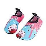 HMIYA Kinder Badeschuhe Wasserschuhe Strandschuhe Schwimmschuhe Aquaschuhe Surfschuhe Barfuss Schuh für Jungen Mädchen Kleinkind Beach Pool(Rosa Bjl,20/21)