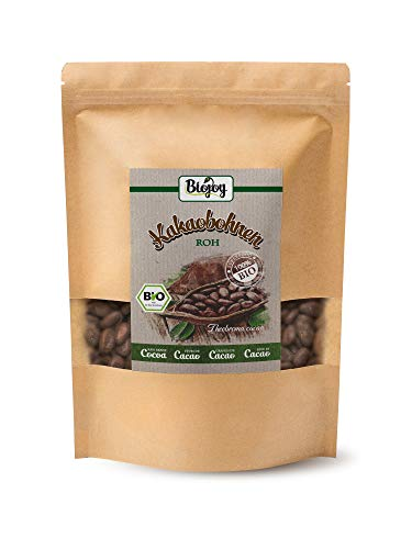 Biojoy Granos de Cacao crudos BÍO, granos enteros Theobroma cacao (1 kg)