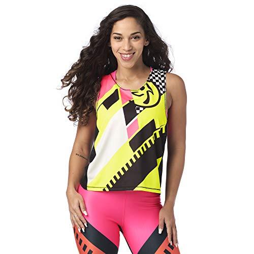 Zumba Active Gym - Sudadera sin mangas con capucha para mujer, color negro intenso 3, S