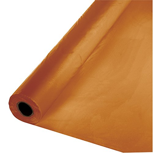 """Creative Converting Touch of Color Plastic Table Banquet Roll, 100-Feet, Pumpkin Spice, 40"""" x 100'"""