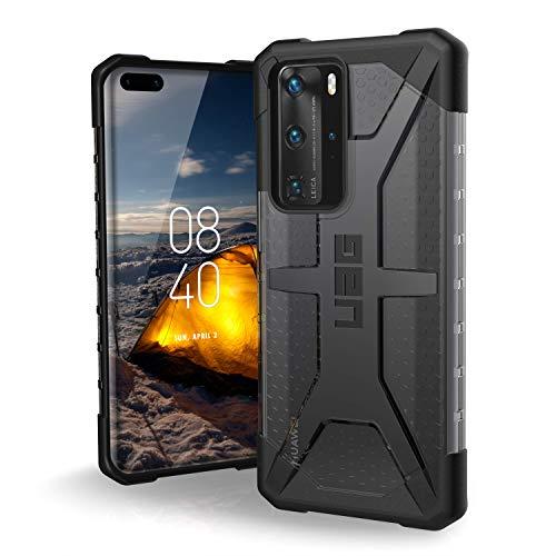 Urban Armor Gear Plasma Huawei P40 Pro Protective Sleeve (Compatible con la Carga inalámbrica, Funda de teléfono móvil Resistente a los Golpes, Parachoques Ultra Delgado) Gris (Transparente)