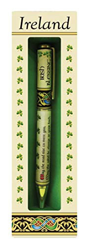 Irish Blessing Designed Pen With Celtic And Shamrock Design