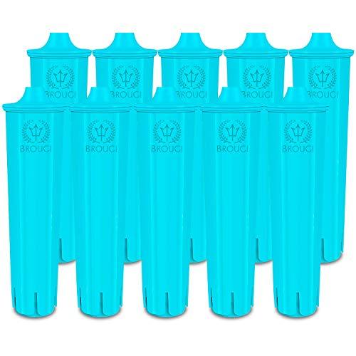 10 x BROUGI Filterpatrone für JURA CLARIS BLUE Kaffeevollautomat Kaffeemaschine ENA Micro Filter Impressa Filterpatrone geeignet für Entkalker effektiv mit Entkalkungstabletten