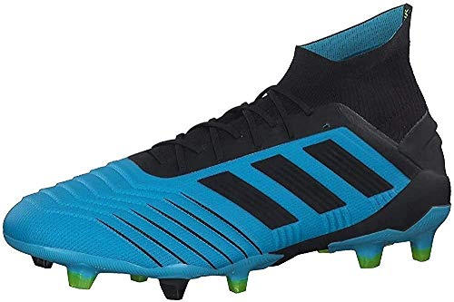 adidas Predator 19.1 FG, Zapatillas de Fútbol Hombre, Azul (Bright Cyan/Core Black/Solar Yellow Bright Cyan/Core Black/Solar Yellow), 42 EU
